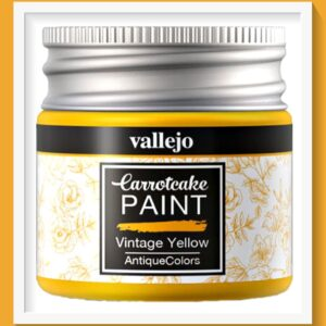 Vallejo Carrot Cake Matt Acrylic Paint 431 Vintage Yellow