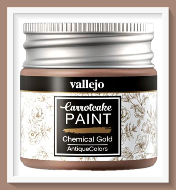 Vallejo Carrot Cake Matt Acrylic Paint 435 Chemical Gold