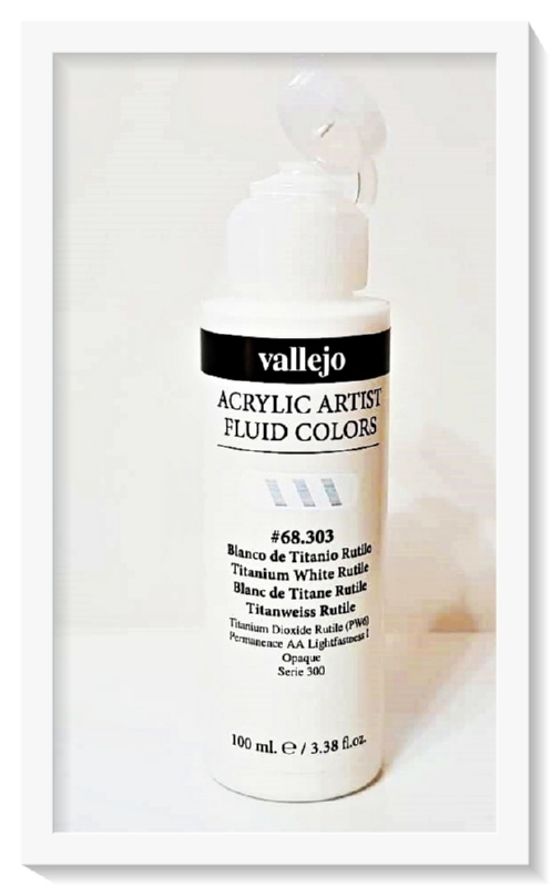 Vallejo Acrylic Artist Fluid Colors Titanium White VAL68303 100ml
