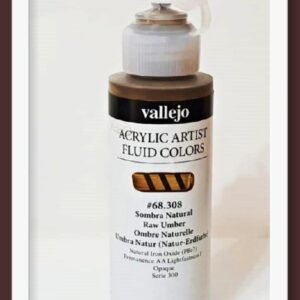 Vallejo Acrylic Artist Fluid Colors Raw Umber VAL68308 100ml