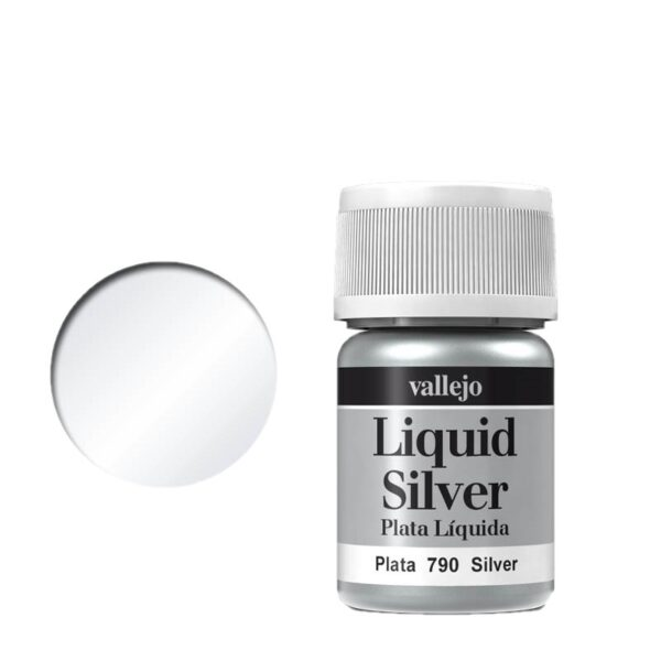 Vallejo Liquid Gold 790 Silver (Alcohol Based)