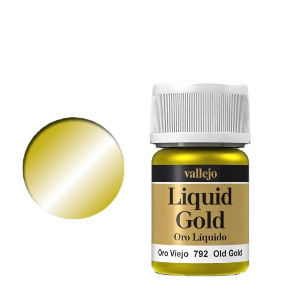 Vallejo Liquid Gold 792 Old Gold (Alcohol Based)