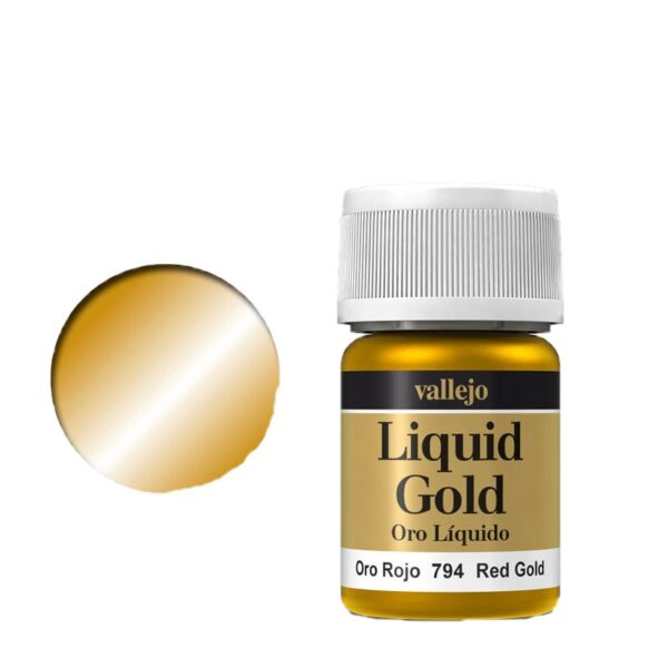 Vallejo Liquid Gold 794 Red Gold (Alcohol Based)