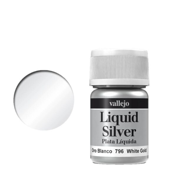 Vallejo Liquid Gold 796 White Gold (Alcohol Based)