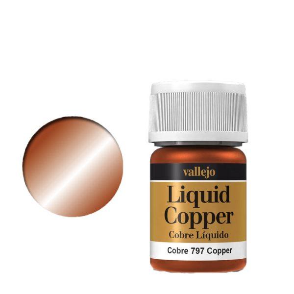 Vallejo Liquid Gold 797 Copper (Alcohol Based)