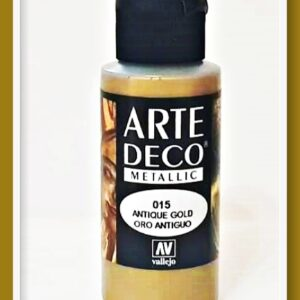 Vallejo Arte Deco Color Dove Metallic Antique Gold