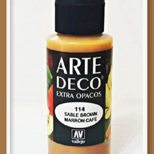 Vallejo Arte Deco Color Sable Brown