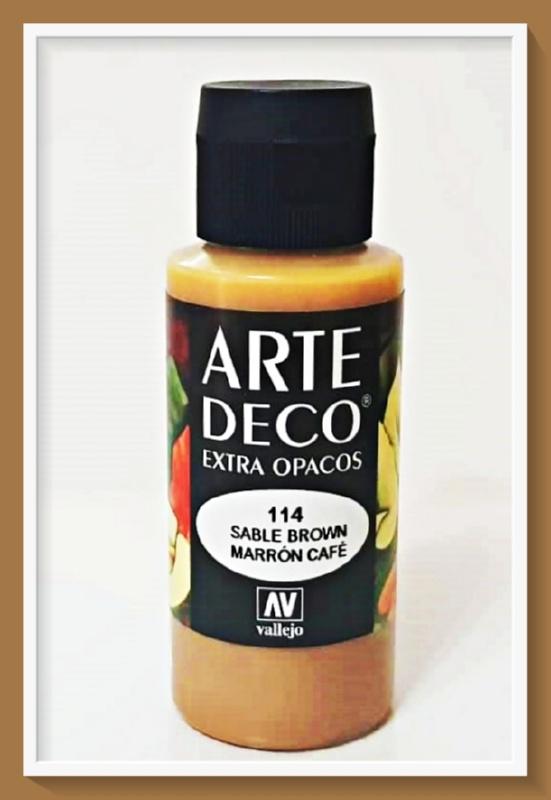 Vallejo Arte Deco Color Sable Brown