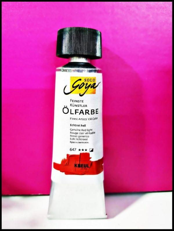 Solo Goya Finest Artists' Oil Color D-0333647 Genuine Red Light 55ml