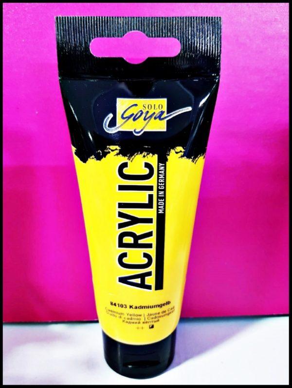 Solo Goya Acrylic D-0384103 Cadmium Yellow 100ml