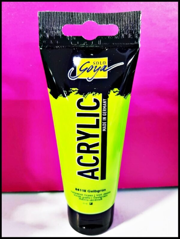 Solo Goya Acrylic D-0384118 Yellowish Green 100ml