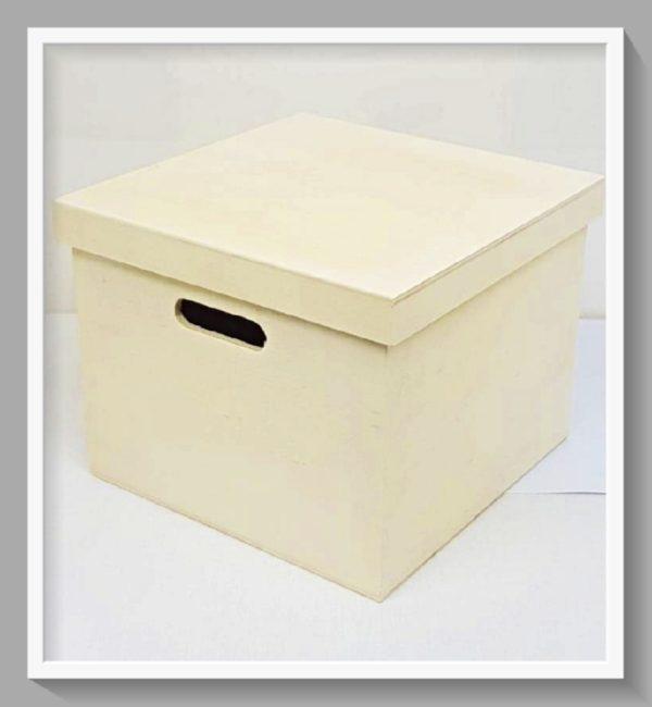 Ξύλινο Κουτί Τετράγωνο LG64395 20cmx20cmx15.8cm