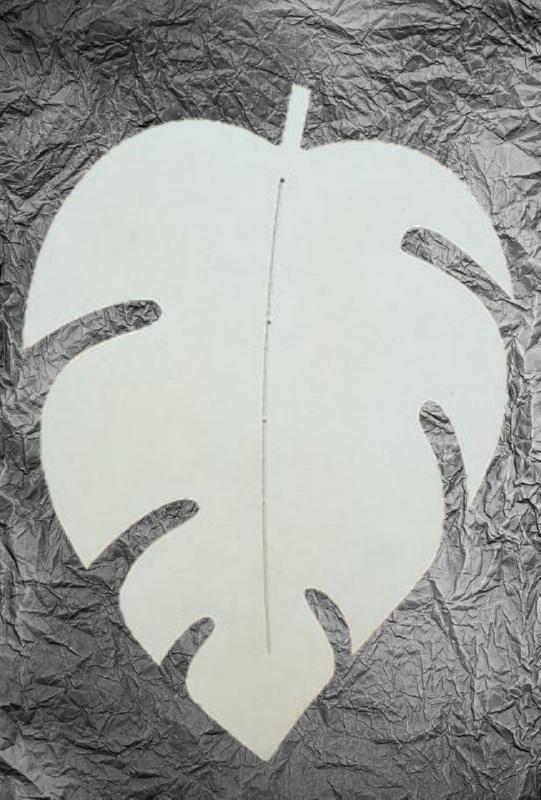 Διακοσμητικός Δίσκος σε σχήμα Φύλλο LG170149 50x35x1.2cm