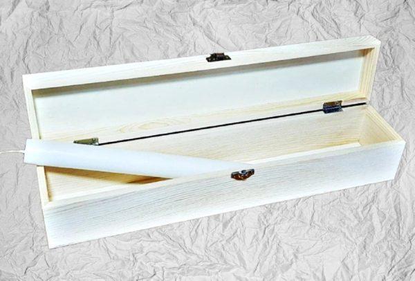Ξύλινο Λαμπαδόκουτο LG87447 40x8x8cm