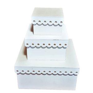 Σετ 3 Ξύλινα Κουτιά LG87483