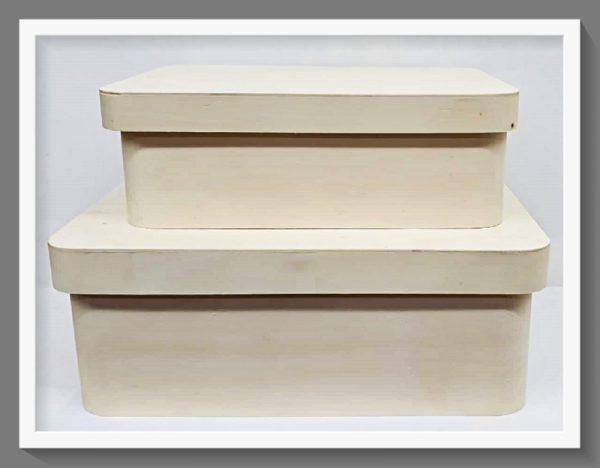 Σετ 2 Ξύλινα Κουτιά LG87725