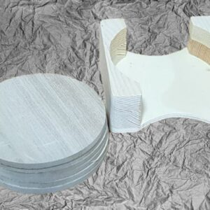 Ξύλινα Στρογγυλά Σουβέρ με βάση LG87785 10x10x3.5cm