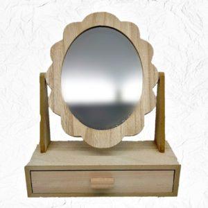 Ξύλινο Διακοσμητικό Συρτάρι με Καθρέφτη LG87849  28x22cm
