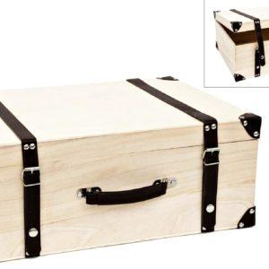 Ξύλινη Μεγάλη Βαλίτσα LG87851 50x35x20cm
