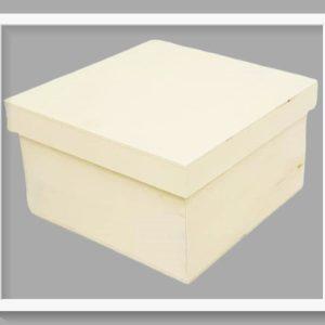 Ξύλινο Κουτί Τετράγωνο LG87867 17cmx17cmx10cm