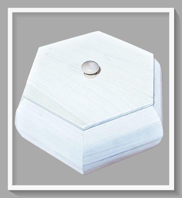 Ξύλινο Κουτί Οκτάπλευρο με καπάκι LG87875 14x14x6cm