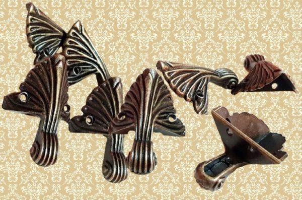 Διακοσμητικά Μεταλλικά Ποδαράκια Αντικέ 4τμχ LG90491