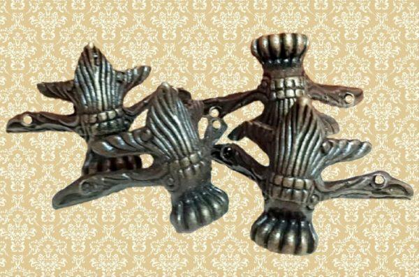 Διακοσμητικά Μεταλλικά Ποδαράκια Αντικέ 4τμχ LG90492