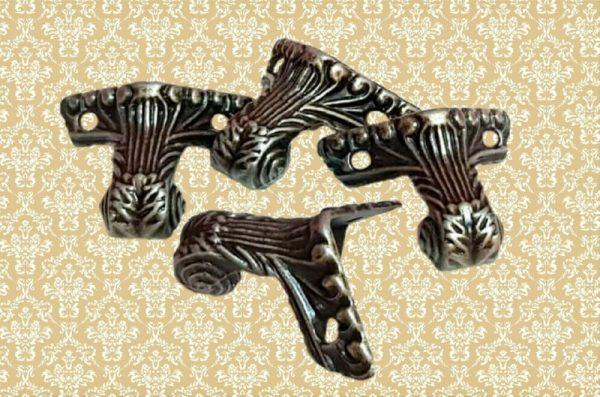 Διακοσμητικά Μεταλλικά Ποδαράκια Αντικέ 4τμχ LG90493