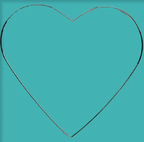Μεταλλικό Στεφάνι σε Σχήμα Καρδιά DF00425   25.5x24cmDF00425