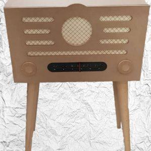 Ξύλινο Ραδιόφωνο Μπαράκι  DF00418  73x45x26cm
