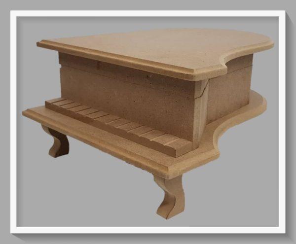 Ξύλινο κουτί σε σχήμα πιάνο DF00419   30x22x13cm