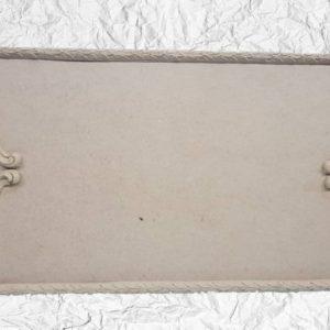 Ξύλινος Δίσκος με Ξυλόγλυπτα DF00476  55x29cm