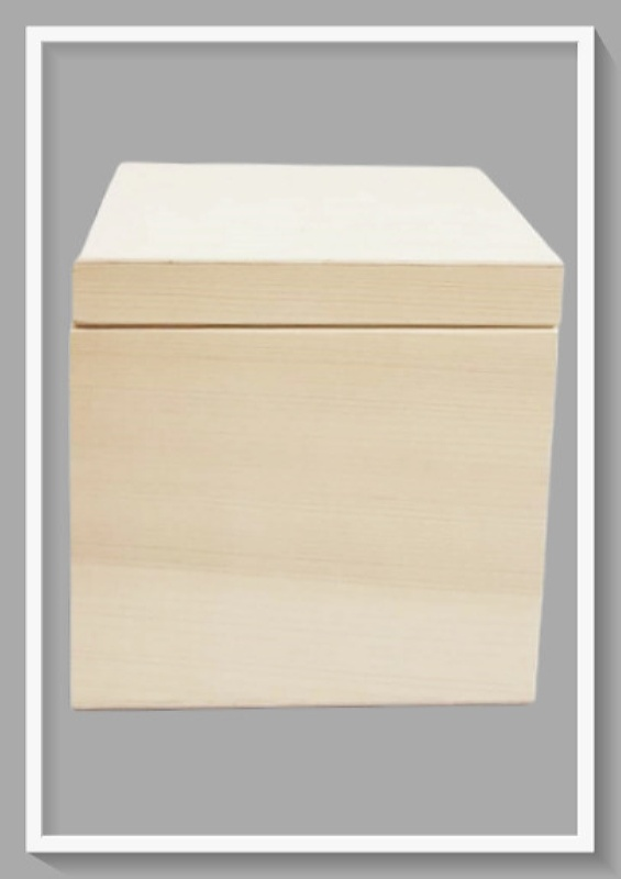Ξύλινο Τετράγωνο Κουτί DF00510  16x16x16cm