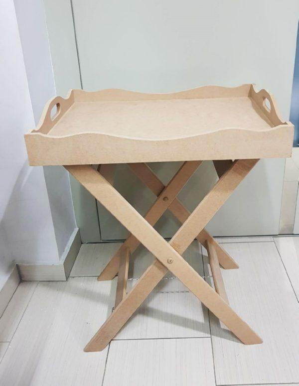 Ξύλινος Δίσκος Σερβιρίσματος με Βάση Στήριξης DF00759 56x40x70cm