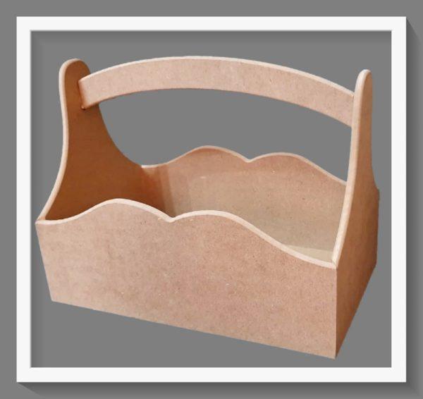 Ξύλινο Καλαθάκι μεγάλο DF003015 35cmx26cmx20cm