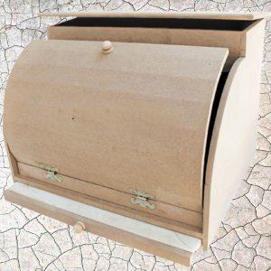 Ξύλινη Ψωμιέρα με Συρτάρι DF003024 52x52x52cm