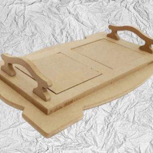 Ξύλινος Δίσκος με πλακάκια DF003027 34cmx19cm