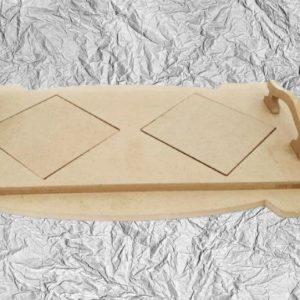 Ξύλινος Δίσκος με πλακάκια DF003028 40cmx21cm