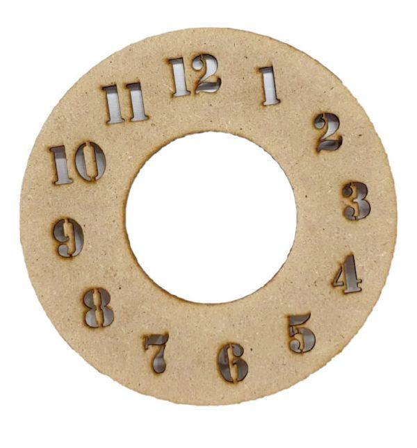 Πάνελ Ρολόι στρογγυλό με νούμερα DF003033 21cmx21cm