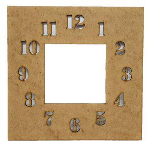 Πάνελ Ρολόι τετράγωνο με νούμερα DF003034 22cmx22cm