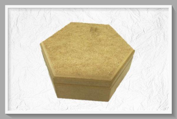 Ξύλινο Εξάγωνο Κουτί STEKT-23  18x20x8cm