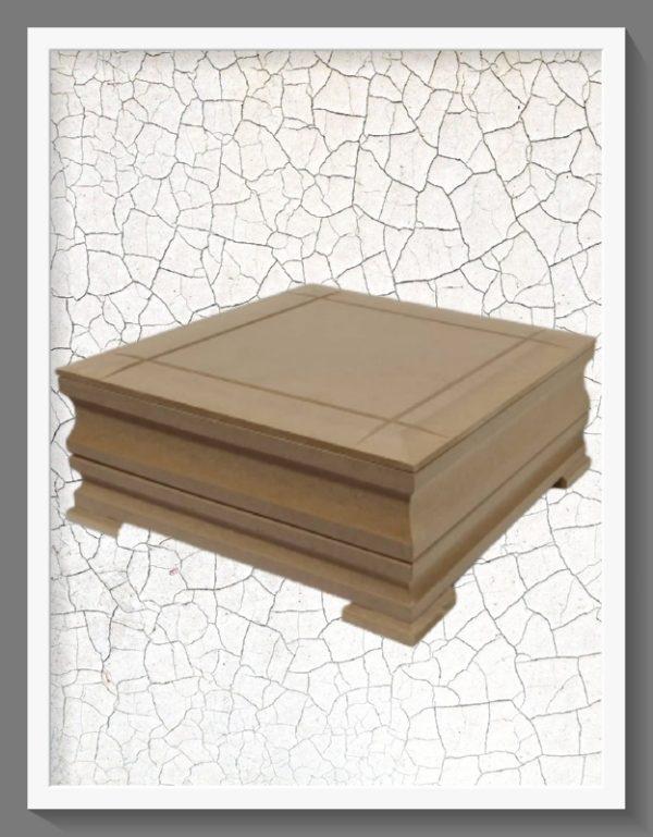 Ξύλινο Κουτί  με καπάκι DECKT126 25cmx25cm