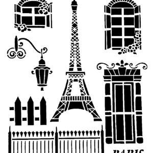 Στένσιλ Decofoam S036 - 30x21cm- Παρίσι