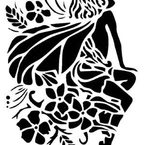 Στένσιλ Decofoam S043 - 30x21cm- Νεράιδα