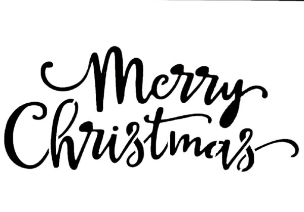 Στένσιλ Decofoam yz093 - 30x21cm- Merry Christmas