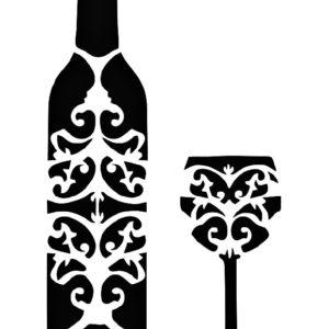 Στένσιλ Decofoam D-0102002 - 35x25cm - Mπουκάλι & Ποτήρι