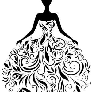 Στένσιλ Decofoam -D-0102003  30x21cm - Γυναικεία Φιγούρα