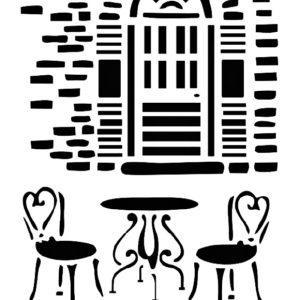 Στένσιλ Decofoam D-0102009 - 30x21cm - Kαρέκλες & Τραπέζι