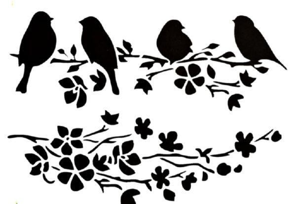 Στένσιλ Decofoam D-0102013 - 35x25cm - Πουλιά & Κλαδιά