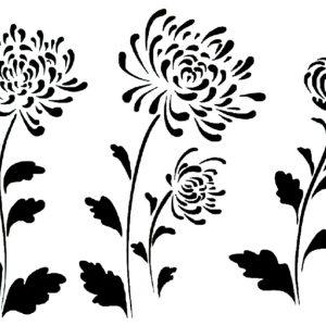 Στένσιλ Decofoam D-0102014 - 30x21cm - Λουλούδια